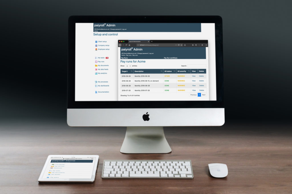 online payroll automation administrator