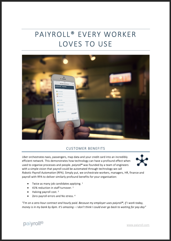 Automated online payroll service White paper