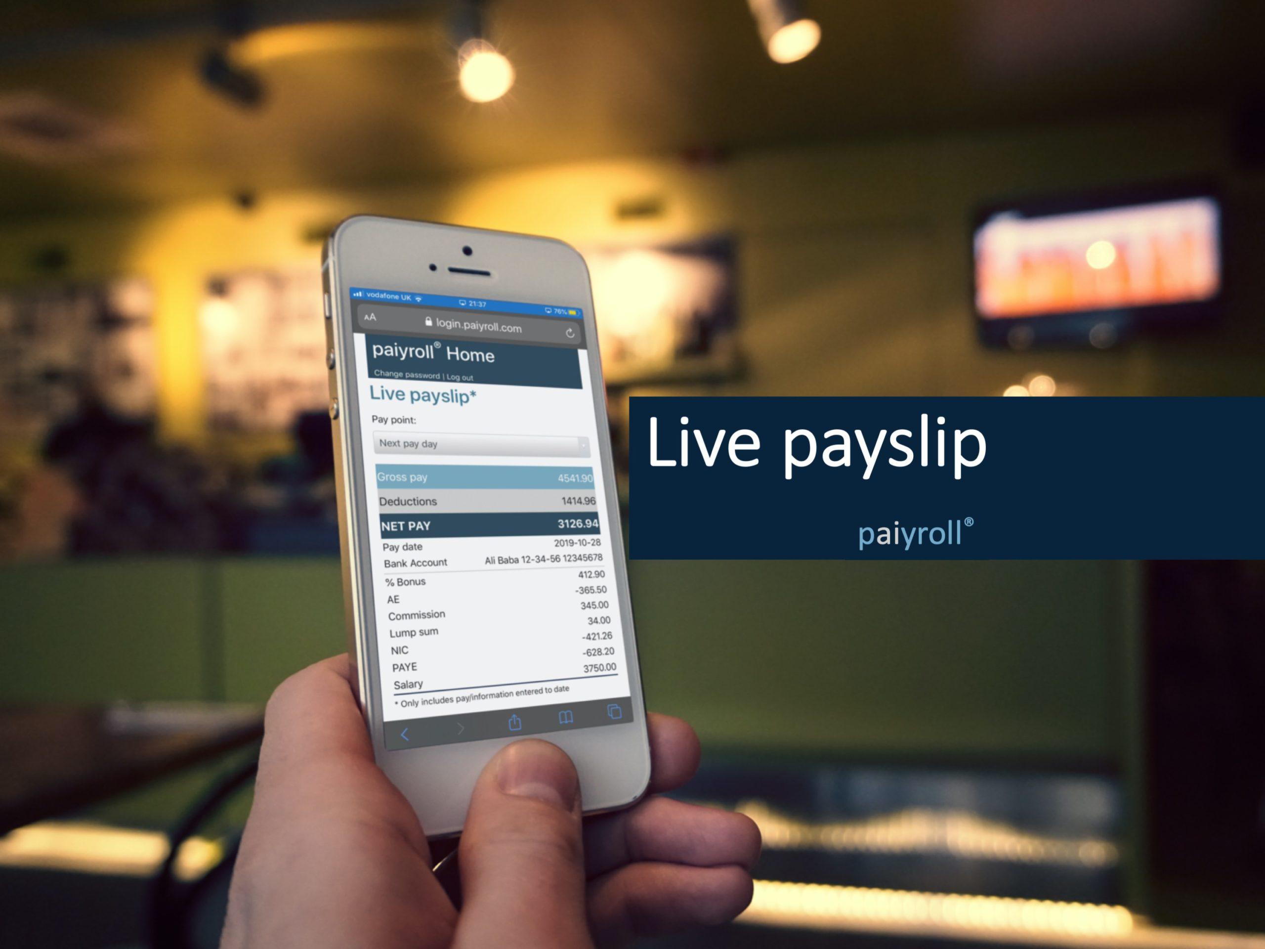 Live payslip