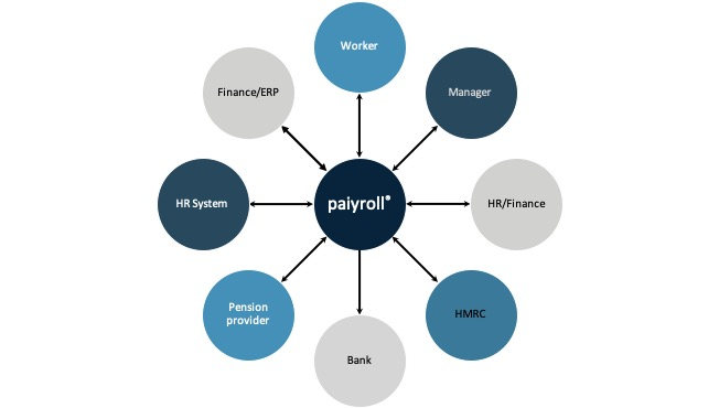 Automated online payroll service organisation view