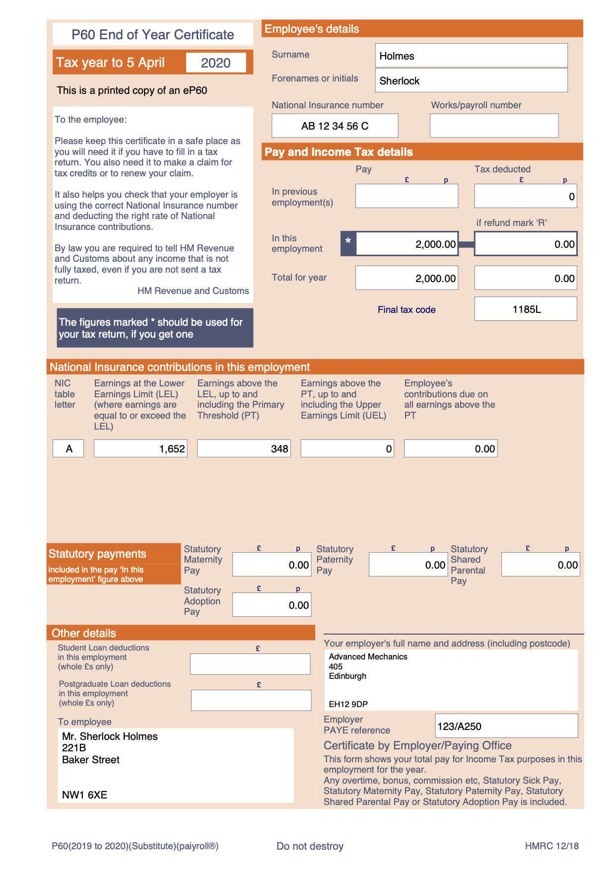 GDPR email payslips