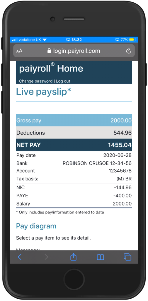 paiyroll® Live secure GDPR email payslip