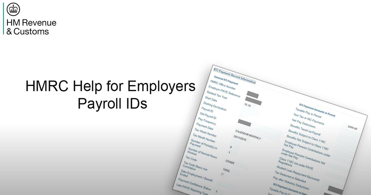 Payroll IDs (HMRC)